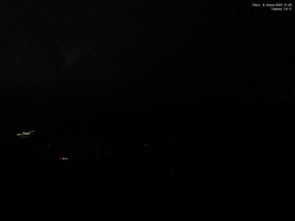 Webkamera z horské chaty Borůvka v Krkonoších