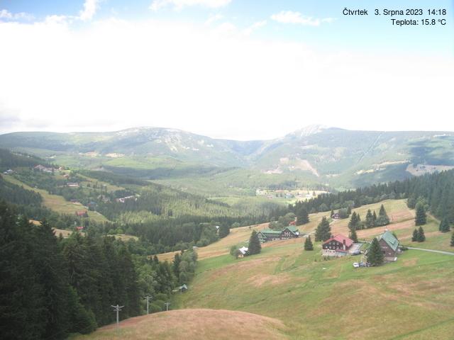 Webcam Skigebiet Pec pod Snezkou cam 2 - Riesengebirge