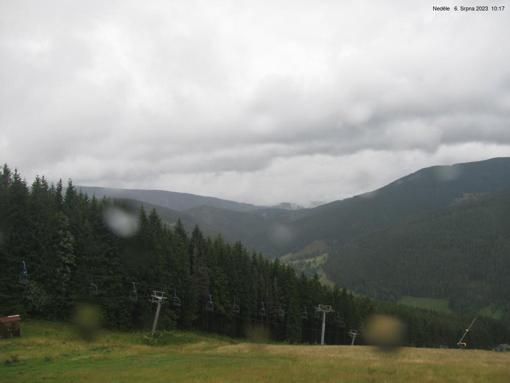Webkamera z horské chaty Portášky v Krkonoších