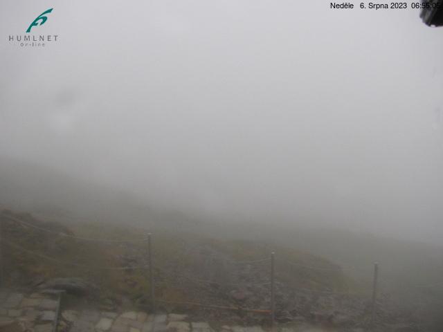 Sněžka (1602 m n.m.) - směr Pomezní boudy