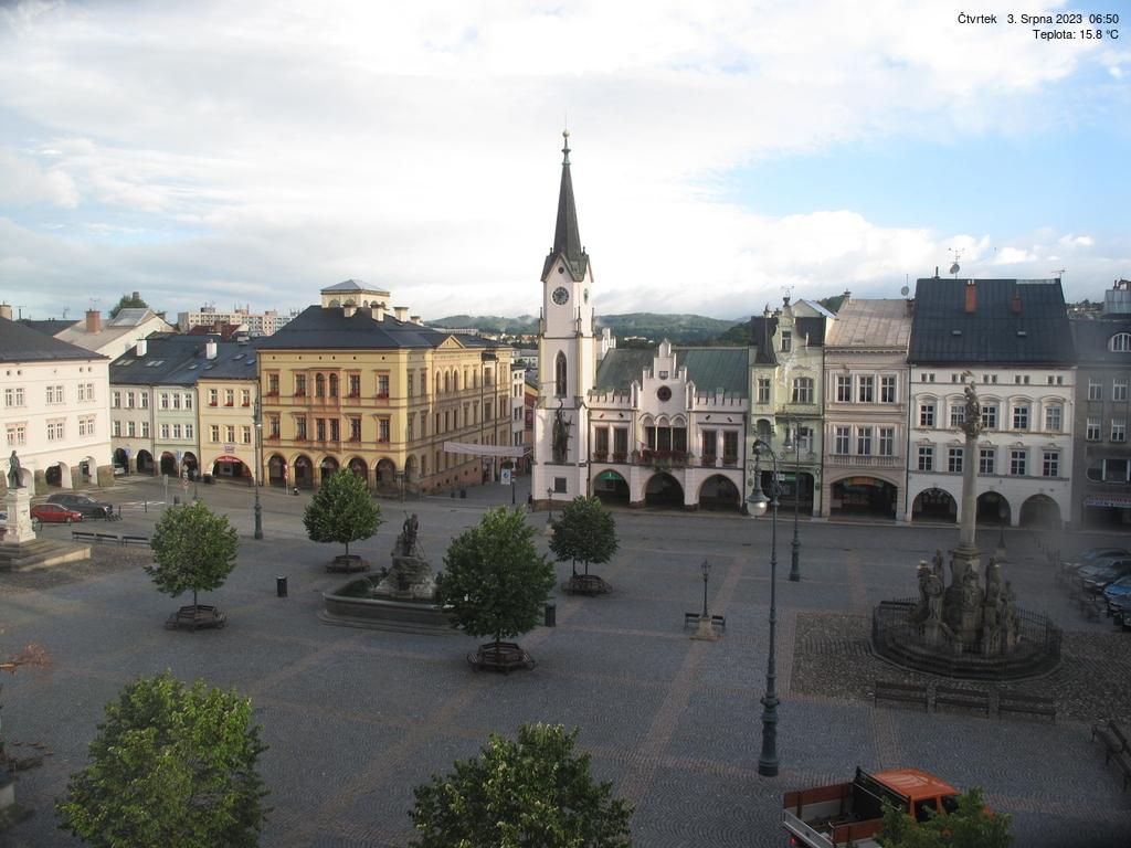 Webkamera náměstí Trutnov v Krkonoších